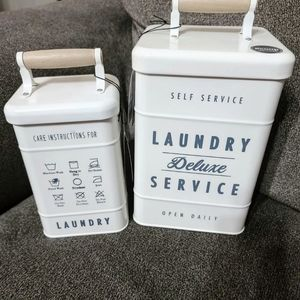 NWT BETTER HOMES & GARDENS LARGE/SMALL CANISTER SE
